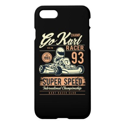 Go Kart Racer Glossy Phone Case  $35.15  by BuddaKatsStore  - cyo diy customize personalize unique