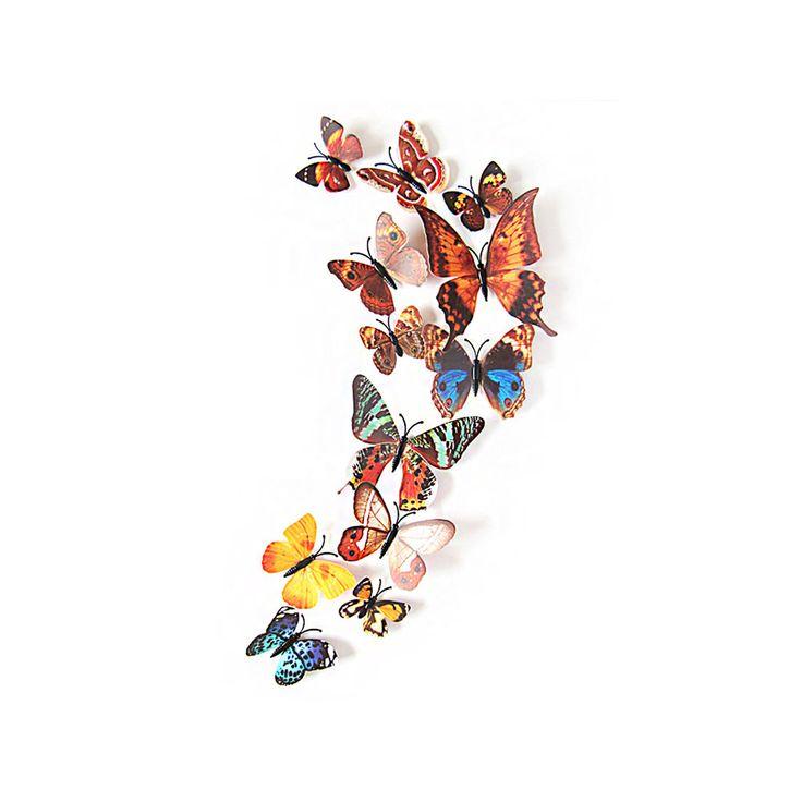 Cute D Schmetterlinge er Set Wandtattoo Wandsticker Wanddeko braun