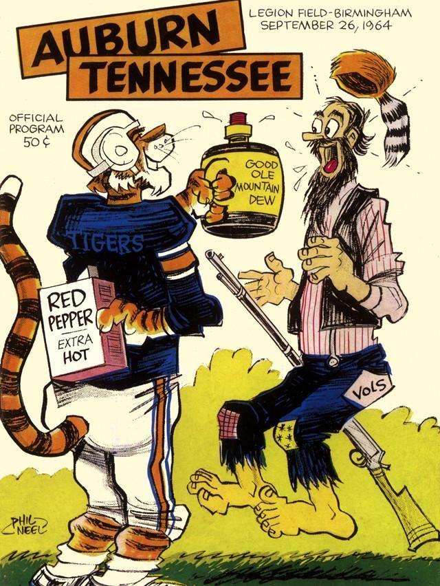 1964 Auburn Tigers vs Tennessee Volunteers 30x40 Canvas