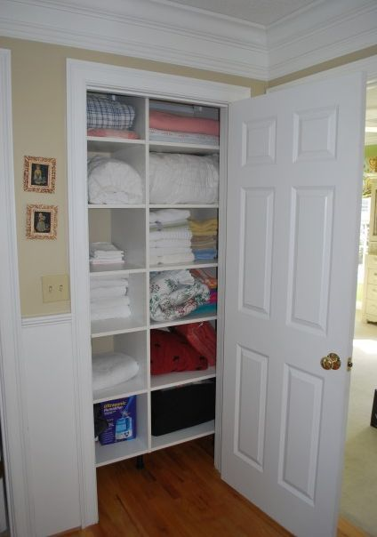 17 best images about bathroom closet ideas on pinterest Small closet shelving ideas