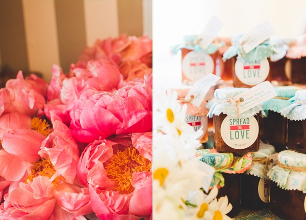 spread the love with homemade jam wedding favours