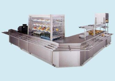 Autoservicios islas frias cocinas industriales for Mesas industriales