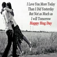 Happy Hug Day Wishes for Lovers