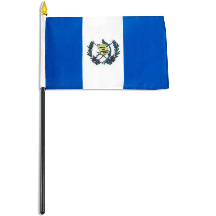 Guatemala Flag 4 X 6 Inch Mounted On A 10 Plastic Stick Is Made From Polyester And Printed In Bright Colors To Make