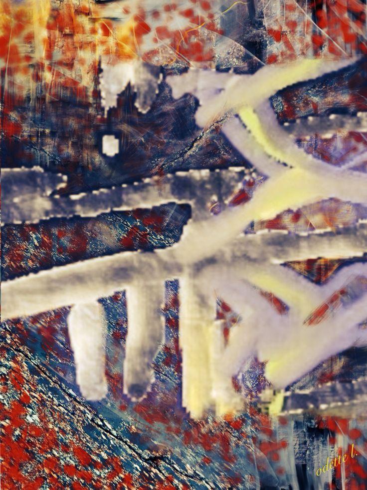 Immobiles sous nos pas,syllabes Ligne ondulante,voyelles,consonnes Échos de nos cœurs,échos de nos âmes par Odette L.