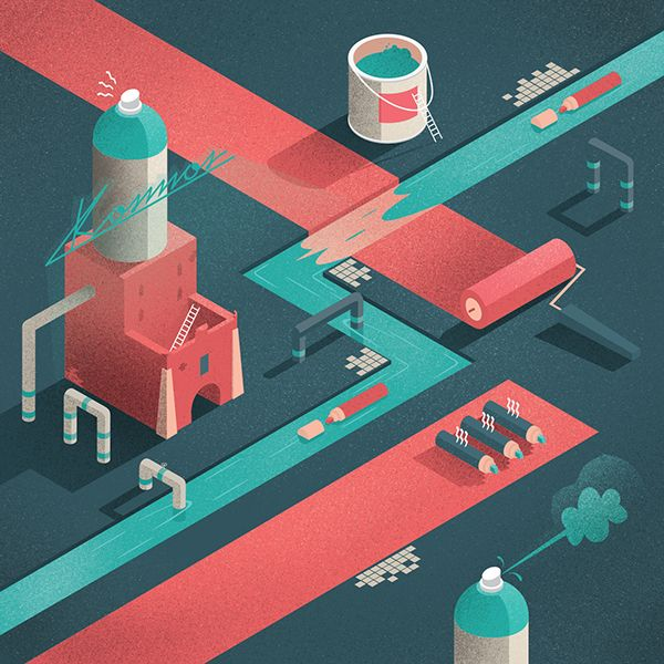 Get Your Head Around the City / Subjective Guide by Michał Bednarski, via Behance