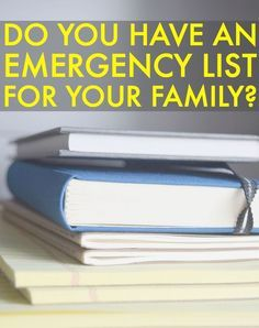 Financial Emergency List For An Emergency Response Plan. It's a good idea to keep a financial emergency response plan of everything just in case something were to happen, even if it's something no one ever wants to think about. Having one just makes life so much easier.