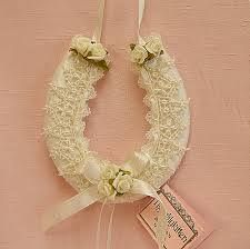 Another wedding custom is for a young child to hand the bride a horseshoe as she enters the church. In some Celtic places, the horseshoe is incorporated into the bridal bouquet or even sewn into the bride's gown. This is to bring her good luck in her marriage. The horseshoe is to be kept in the upright position to keep the good luck in.
