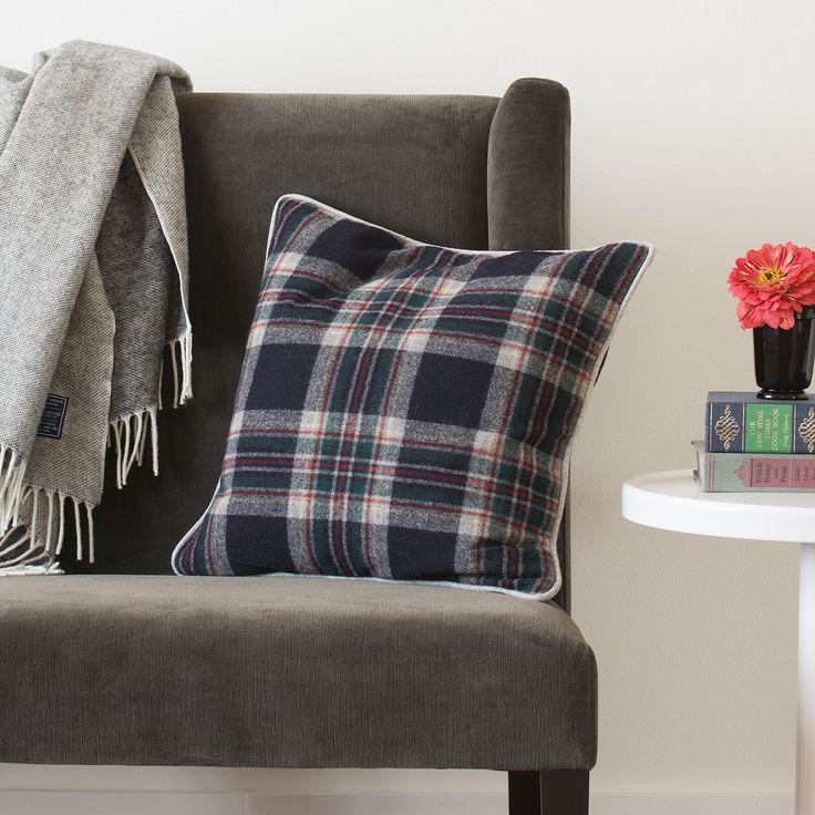 Grandad Plaid Throw Pillow Blue Plaid Velvet Couch interior Pinterest Velvet couch ...