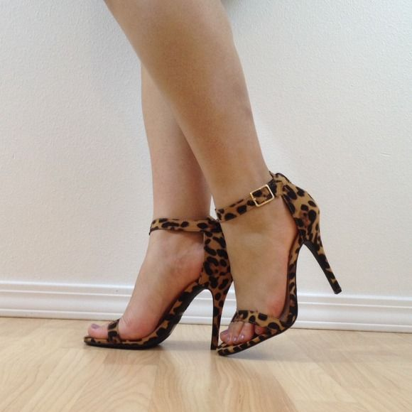 """Selling this """"Leopard Ankle Strap Heel - NEW"""" in my Poshmark closet! My username is: yooni. #shopmycloset #poshmark #fashion #shopping #style #forsale #Shoes #heels #leopard #leopardheels"""