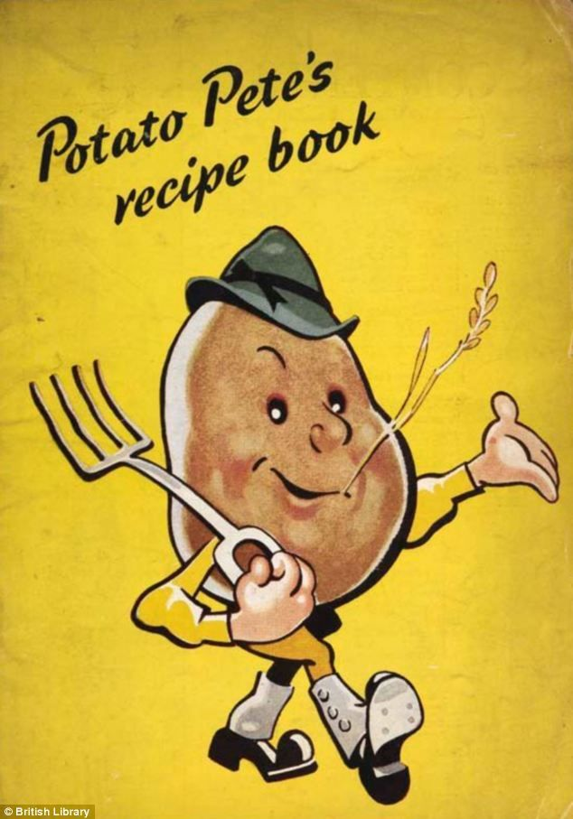 Cartoon: Potato Pete was created to encourage people to grow and eat their own potatoes during WWII