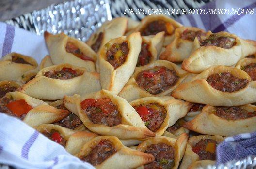 fatayers libanais à la viande hachée