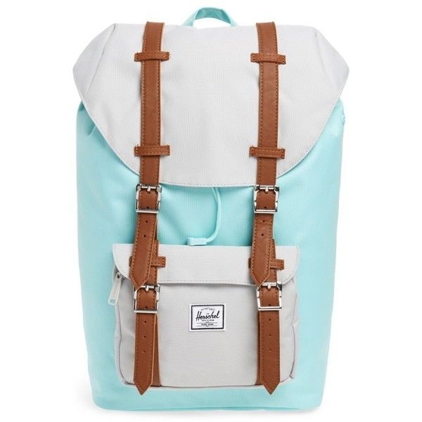 Herschel Supply Co. Little America - Mid Volume Backpack ($60) ❤ liked on Polyvore featuring bags, backpacks, herschel supply co bag, padded laptop bag, mesh backpack, backpack laptop bag and laptop pocket backpack