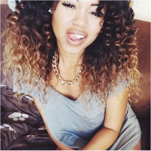Black To Blonde Ombre Hair Curly Hair Natural Hair Pinterest