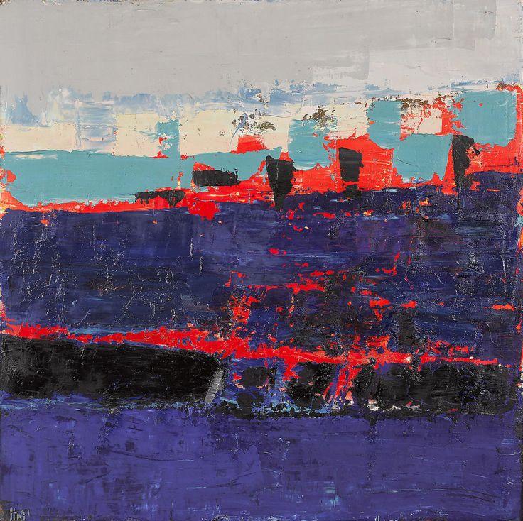thunderstruck9: Nicolas de Staël (French, born Russia, 1914-1955), Paysage, La Ciotat [Landscape, La Ciotat], 1952. Oil on canvas, 80 x 80 cm.
