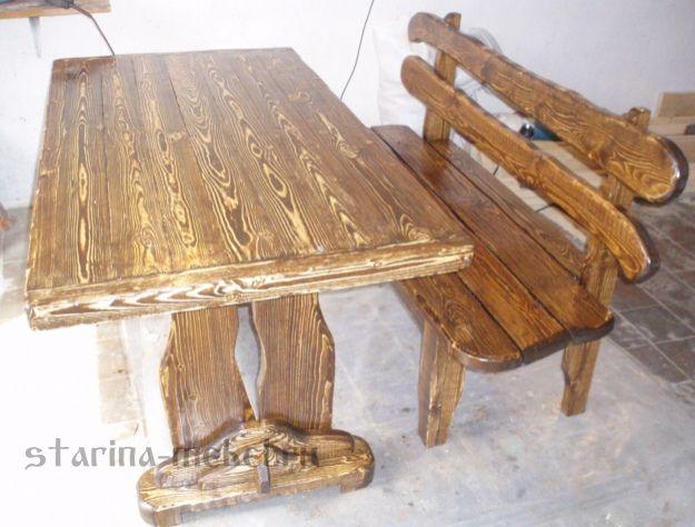Деревянные столы под старину из сосны – национальная гордость