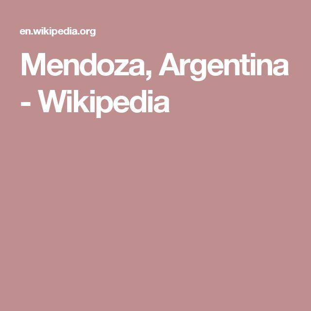 Mendoza, Argentina - Wikipedia