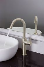 Crosswater Mike Pro Side Lever Tall Basin Monobloc Tap Brushed Stainless Steel