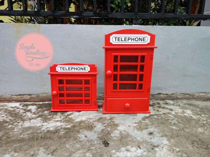 Kotak obat dan tempat kunci dengan desain Phonebox London ...