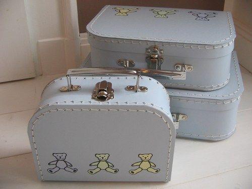 Kinderkoffer  * Bären Bär hellblau *