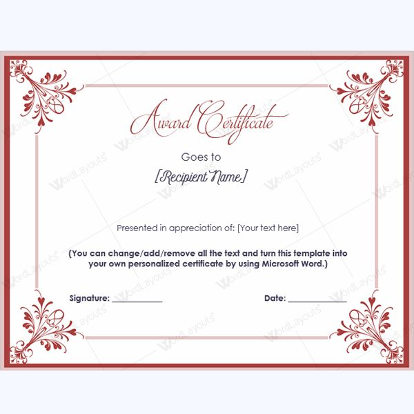 Best Award Certificate Templates Images On