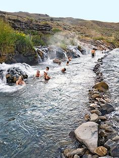 Boiling River, Yellowstone National Park, Wyoming