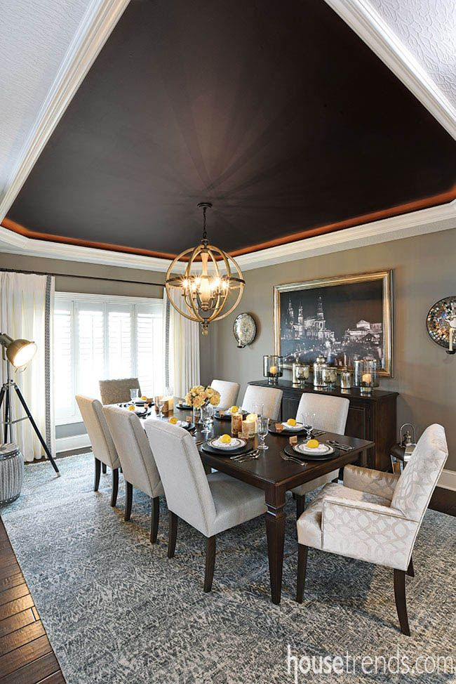 An interior designer for Ethan Allen in Centerville, Ohio, helped make this dining room beautiful. #housetrends https://www.housetrends.com/specialist/Ethan-Allen-Dayton