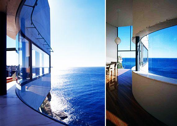 runde Wand mit gerundetem Fensterband und Natursteinfensterbank #Design #of …   – Illustrierte Modelle