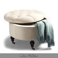 Collette Tufted Storage Ottoman to go in that small bedroom turned into large closet  sc 1 st  Pinterest & 10 best vanity benches images on Pinterest | Vanity bench Vanity ... islam-shia.org