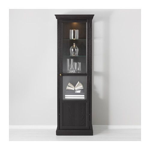 IKEA MALSJÖ glass-door cabinet