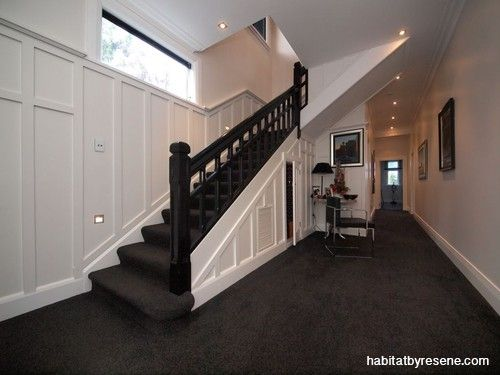 Best Plush Charcoal Carpet And A Black Resene Nero Balustrade 400 x 300