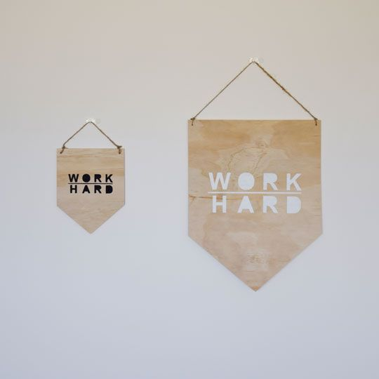 Made By Mee + Co | Work Hard Ply Banner