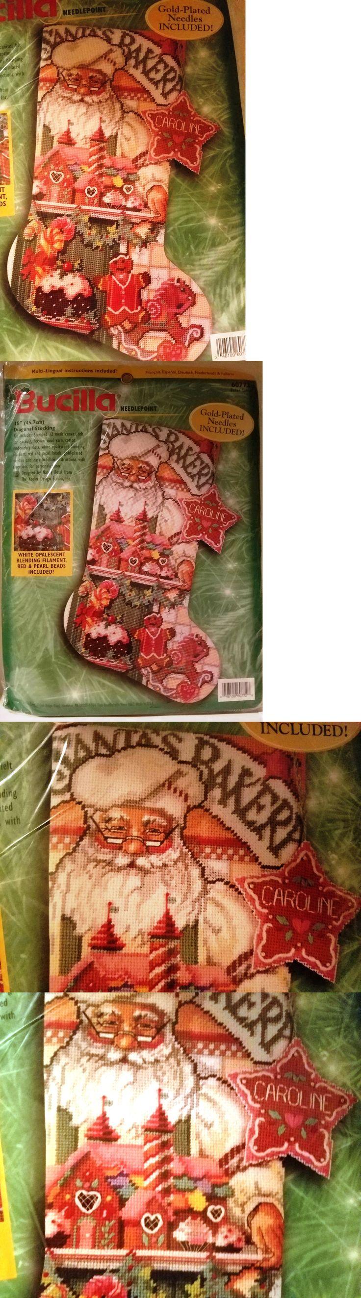 Needlepoint Kits 3109: Bucilla 60772 Needlepoint Stocking Baker Santa Kit ~ Sealed ~ Rossi -> BUY IT NOW ONLY: $210 on eBay!
