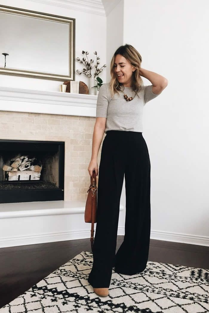 20 Stylish Summer Outfit Ideas with Wide Leg Pants – Designerz Central