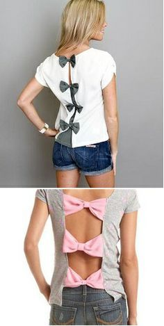 How to Make Bow Back T-shirt – DIY Tutorial