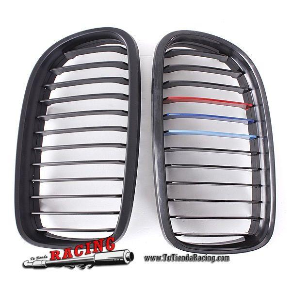 Juego de Parrillas Delanteras Color Negro Mate para Coche BMW 3-Series E90/E91 09-11 -- 50,14€ Envío gratuito a toda España en todos los productos