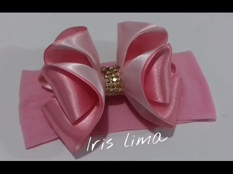 Como elaborar moños y flores fáciles,How To Make a Hair Bow,No. 321 - YouTube                                                                                                                                                                                 Más