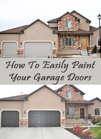 How To Easily Paint Your Garage Doors.