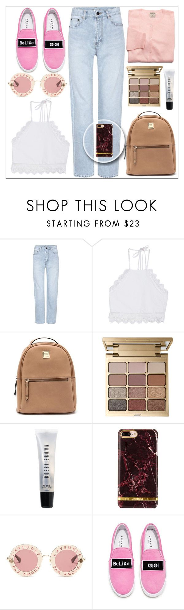 """""""make your life easier!!"""" by juhibieber1 ❤ liked on Polyvore featuring Yves Saint Laurent, Front Row Shop, Stila, Bobbi Brown Cosmetics, Gucci and Joshua's"""