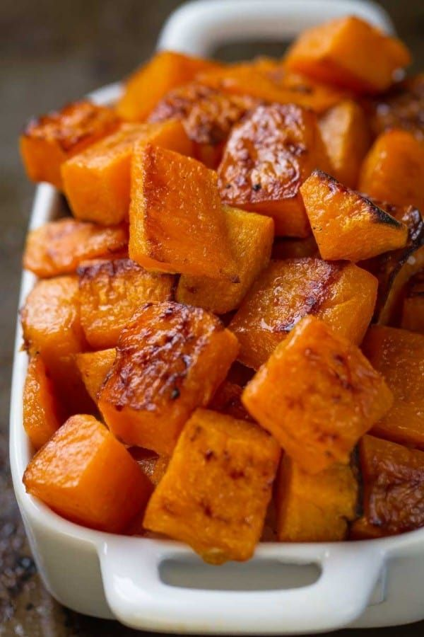 Maple Roasted Butternut Squash is an easy & simple side dish for fall.