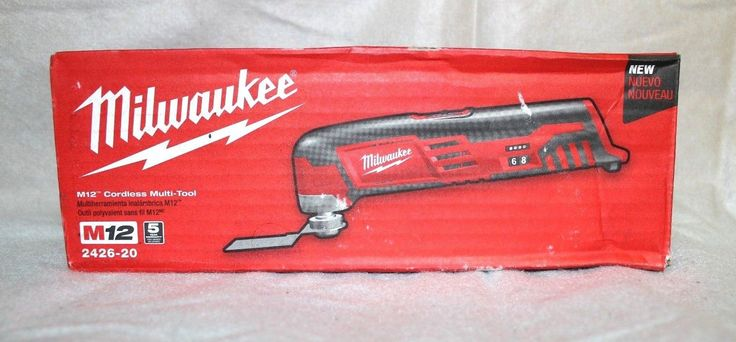 Multi-Tools 46459: Nib Milwaukee 2426-20 M12 Cordless Multi Tool (Tool Only) -> BUY IT NOW ONLY: $59.95 on eBay!
