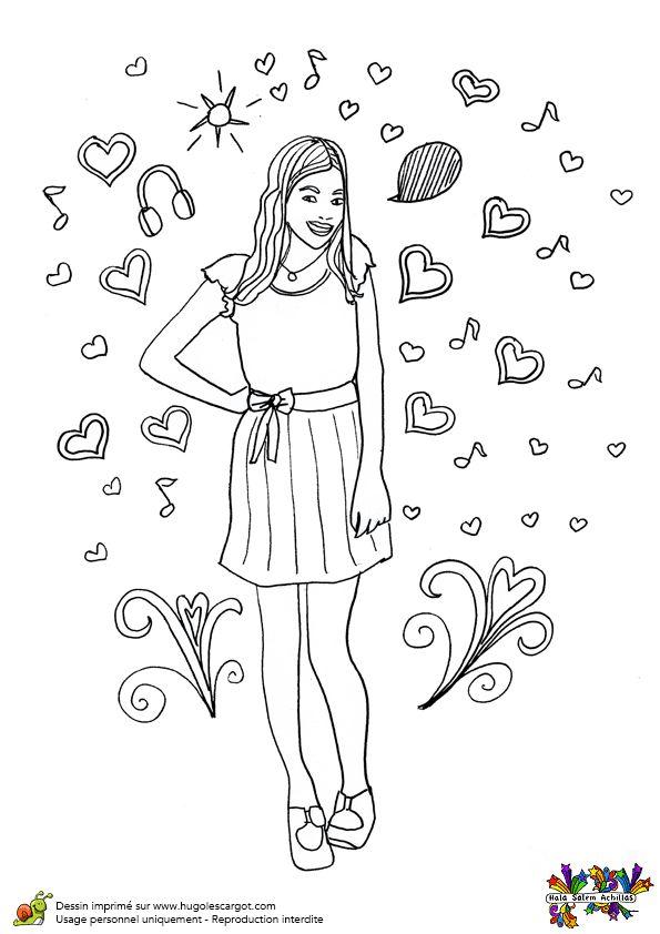 Une belle image de Violetta, à colorier.