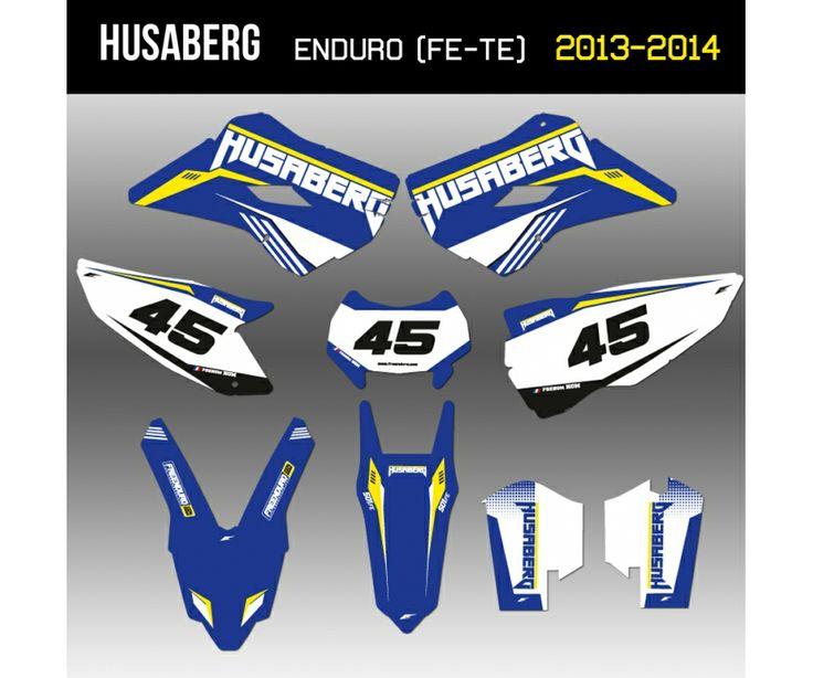 Kit déco Husaberg enduro 2013 et 2014   http://www.eight-racing.com/fr/kits-deco-enduro/1408-kit-deco-husaberg-2013-et-2014.html