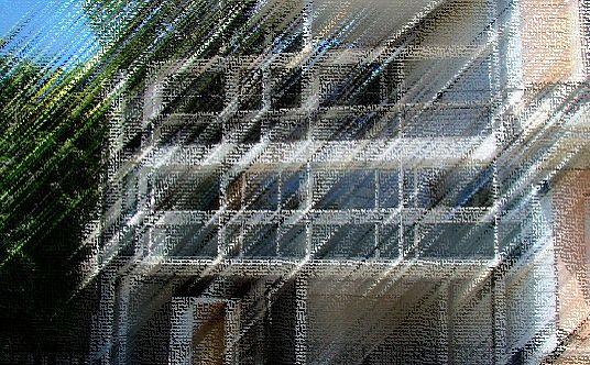En la Casa Curutchet, Le Corbusier resume el proceso compositivo de la vista frontal aplicando el enfoque pictórico purista.