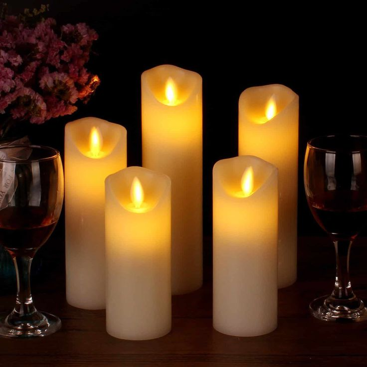 Vinkor Flameless Candles Flickering Set