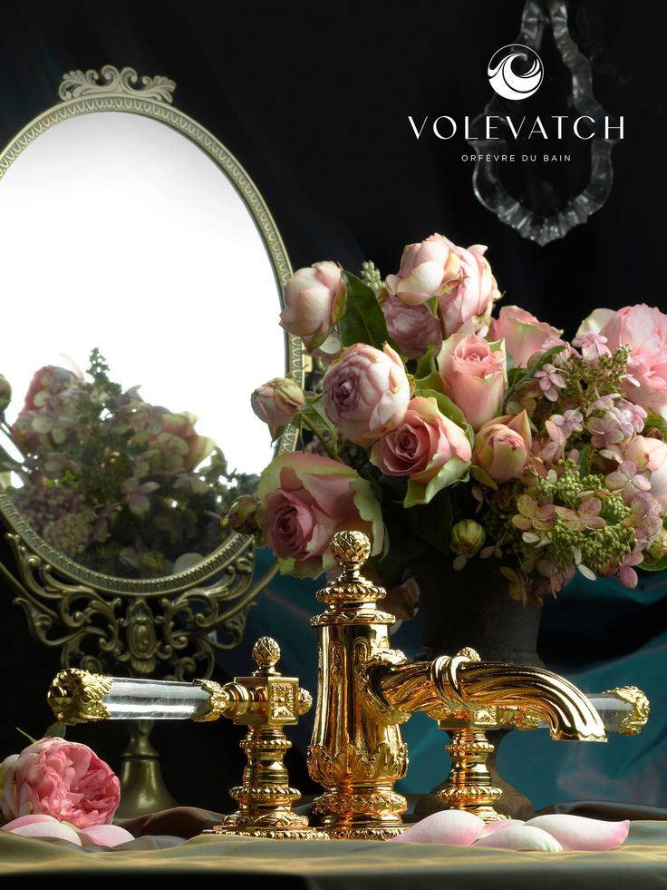 Versailles Artwork Deckmounted 3 hole faucet (With