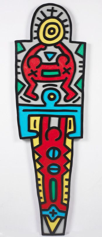 Keith Haring - Totem (painted plywood) 1988