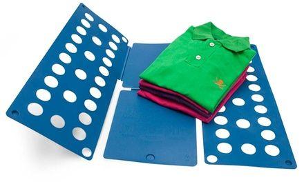 Des vêtements soigneusement pliés grâce à ce plieur à linge facile à utiliser en 4 étapes