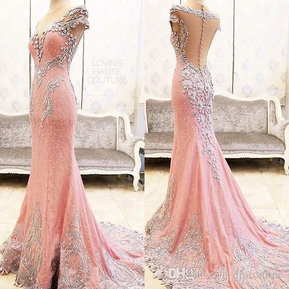 Sparking Crystal Beading Pageant Dresses 2016 Sexy Illusion Sweetheart Neckline Cap Sleeve Mermaid Lace Prom Evening Gown Floor Length Skirt Designer Dresses Sexy Dresses From Dmronline, $246.24| Dhgate.Com