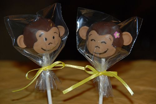 monkey cake pops | What to use for the monkey ears?